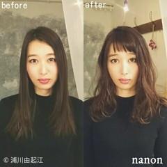 ゆるふわ ロング デート 前髪あり ヘアスタイルや髪型の写真・画像
