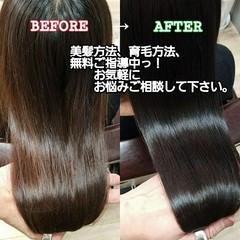 ロング 美髪 ナチュラル 名古屋市守山区 ヘアスタイルや髪型の写真・画像