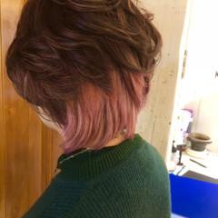 ピンク ガーリー 透明感 イルミナカラー ヘアスタイルや髪型の写真・画像