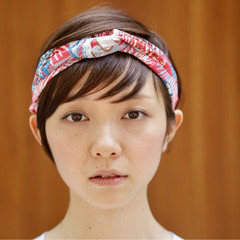 似合わせ ショート 小顔 大人女子 ヘアスタイルや髪型の写真・画像