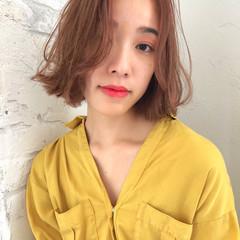 デート 女子力 フェミニン ボブ ヘアスタイルや髪型の写真・画像