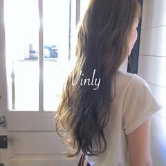 ロング デート フェミニン ガーリー ヘアスタイルや髪型の写真・画像