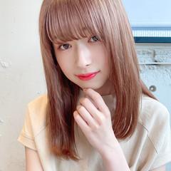 デート ヘアアレンジ セミロング ミディアムレイヤー ヘアスタイルや髪型の写真・画像