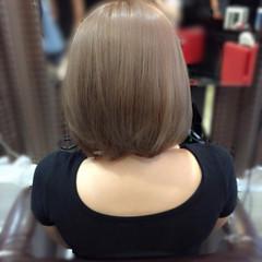 ボブ ヌーディベージュ ベージュ 透明感 ヘアスタイルや髪型の写真・画像