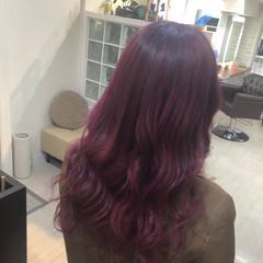 モード ロング ハイトーン ピンク ヘアスタイルや髪型の写真・画像