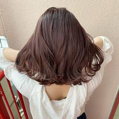 切りっぱなしボブ ストレート 透明感 ガーリー ヘアスタイルや髪型の写真・画像