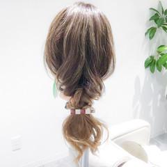 女子会 フェミニン ヘアアレンジ 簡単ヘアアレンジ ヘアスタイルや髪型の写真・画像