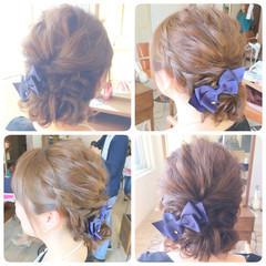 結婚式 ロング ヘアアレンジ 波ウェーブ ヘアスタイルや髪型の写真・画像