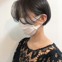 ショート 透明感カラー ミニボブ ショートヘア ヘアスタイルや髪型の写真・画像