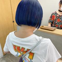ショートボブ ブリーチ ボブ ミニボブ ヘアスタイルや髪型の写真・画像