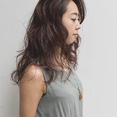 ハイライト フェミニン 3Dハイライト セミロング ヘアスタイルや髪型の写真・画像