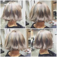外国人風 グラデーションカラー ボブ 大人かわいい ヘアスタイルや髪型の写真・画像