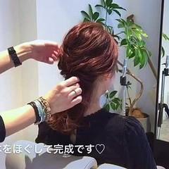 ショート ハーフアップ デート セミロング ヘアスタイルや髪型の写真・画像