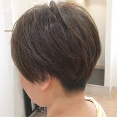 刈り上げショート ショート モード マッシュ ヘアスタイルや髪型の写真・画像