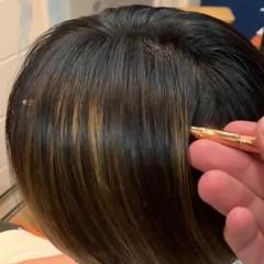 美髪矯正 ショート ストレート マッシュショート ヘアスタイルや髪型の写真・画像