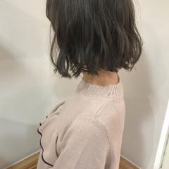 ロブ 透明感 秋 ナチュラル ヘアスタイルや髪型の写真・画像