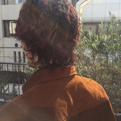 ショート メンズパーマ マッシュウルフ ストリート ヘアスタイルや髪型の写真・画像