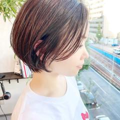 ショートヘア ナチュラル 大人かわいい デート ヘアスタイルや髪型の写真・画像