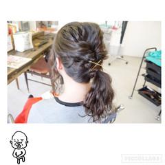 ショート ヘアアレンジ ポニーテール ロング ヘアスタイルや髪型の写真・画像