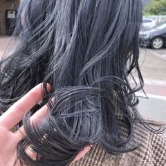 ストリート ブルージュ セミロング グレー ヘアスタイルや髪型の写真・画像