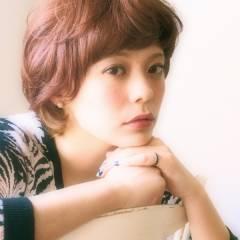 ショート 秋 ガーリー 外国人風 ヘアスタイルや髪型の写真・画像