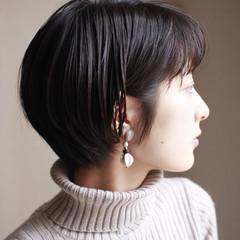 ショート ナチュラル 似合わせ ショートボブ ヘアスタイルや髪型の写真・画像