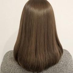 外国人風 ナチュラル ニュアンス ミディアム ヘアスタイルや髪型の写真・画像