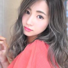 フェミニン 外国人風カラー ロング 透明感 ヘアスタイルや髪型の写真・画像