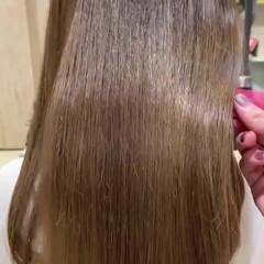 ナチュラルベージュ トリートメント ロング 髪質改善トリートメント ヘアスタイルや髪型の写真・画像