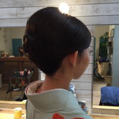 エレガント ミディアム ヘアアレンジ ヘアセット ヘアスタイルや髪型の写真・画像