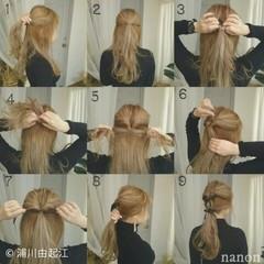 ヘアアレンジ ロング ナチュラル モテ髪 ヘアスタイルや髪型の写真・画像