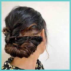 ミディアム ガーリー ギブソンタック セルフアレンジ ヘアスタイルや髪型の写真・画像