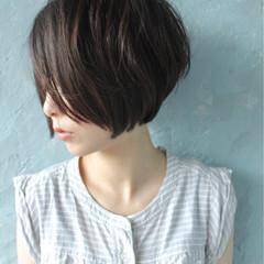 小顔 ショートボブ 似合わせ ボブ ヘアスタイルや髪型の写真・画像
