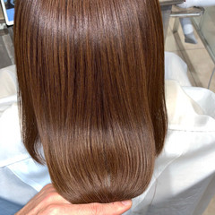 ミディアム ナチュラル ストレート 艶髪 ヘアスタイルや髪型の写真・画像
