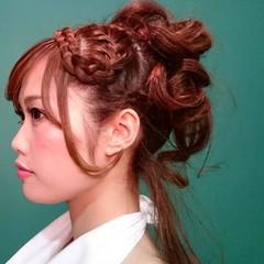 大人かわいい ヘアアレンジ パーティ フェミニン ヘアスタイルや髪型の写真・画像