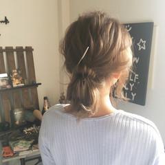 ミディアム 大人女子 ミルクティー フェミニン ヘアスタイルや髪型の写真・画像