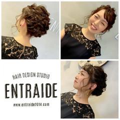 結婚式 デート エレガント セミロング ヘアスタイルや髪型の写真・画像