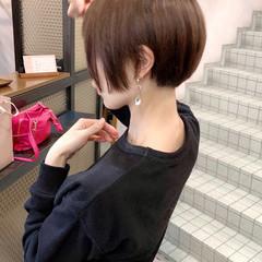 オフィス ショートマッシュ 大人ショート ショート ヘアスタイルや髪型の写真・画像