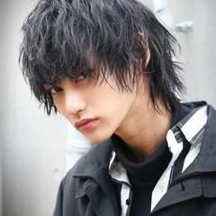 モード 波ウェーブ ウルフ メンズ ヘアスタイルや髪型の写真・画像
