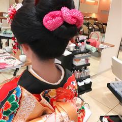 黒髪 結婚式 簡単ヘアアレンジ 暗髪 ヘアスタイルや髪型の写真・画像
