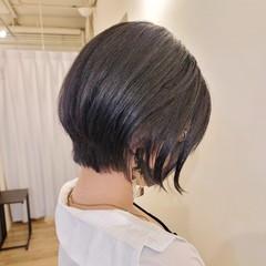 前下がりヘア ショートヘア ショート 前下がりボブ ヘアスタイルや髪型の写真・画像