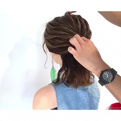 梅雨 デート ヘアアレンジ 簡単ヘアアレンジ ヘアスタイルや髪型の写真・画像