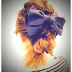 ヘアアレンジ 簡単ヘアアレンジ ゆるふわ ナチュラル ヘアスタイルや髪型の写真・画像