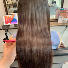 ロング 大人かわいい ロングヘア 髪質改善トリートメント ヘアスタイルや髪型の写真・画像