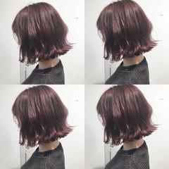 オルチャン こなれ感 ウェーブ ボブ ヘアスタイルや髪型の写真・画像