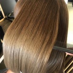 トリートメント 髪質改善 縮毛矯正 ナチュラル ヘアスタイルや髪型の写真・画像