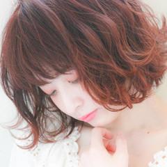 ボブ フェミニン タンバルモリ ヘアアレンジ ヘアスタイルや髪型の写真・画像