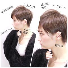 ハイライト 似合わせ ショート 外国人風 ヘアスタイルや髪型の写真・画像