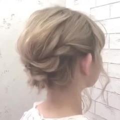 ヘアアレンジ ナチュラル デート 簡単ヘアアレンジ ヘアスタイルや髪型の写真・画像