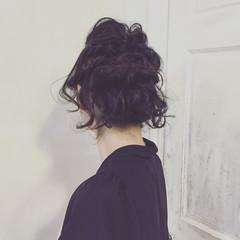 ボブ ヘアアレンジ 簡単ヘアアレンジ 黒髪 ヘアスタイルや髪型の写真・画像